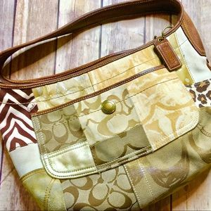 Authentic Coach Patchwork Hobo